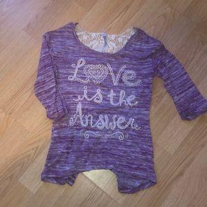 Beautees Shirts & Tops - Girls quarter length shirt